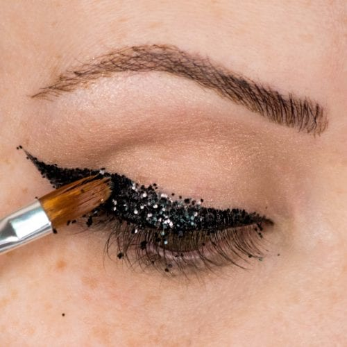 Glam It Up With Glitter: DIY Makeup Guide - Glitter Wing Step 2