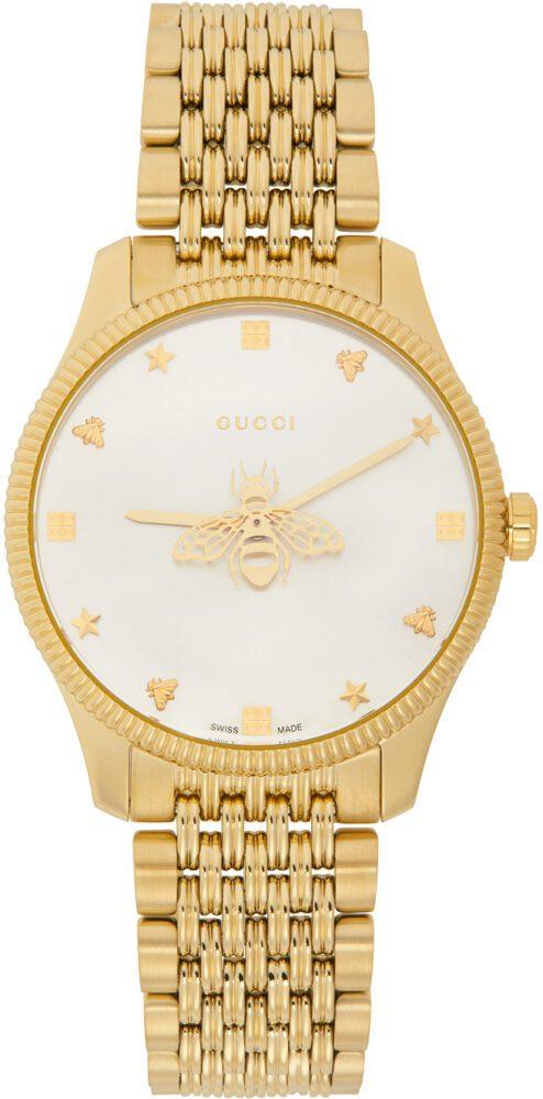 Gucci g-timeless slim yellow gold watch