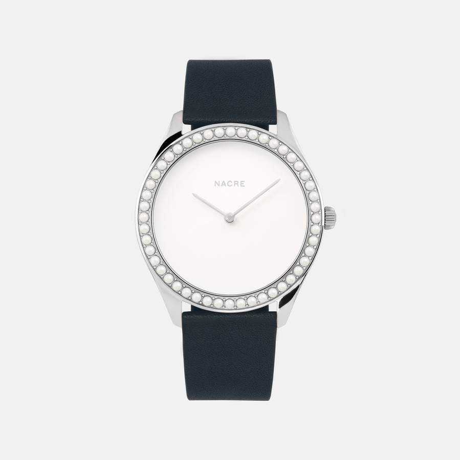 Nacre stainless steel watch