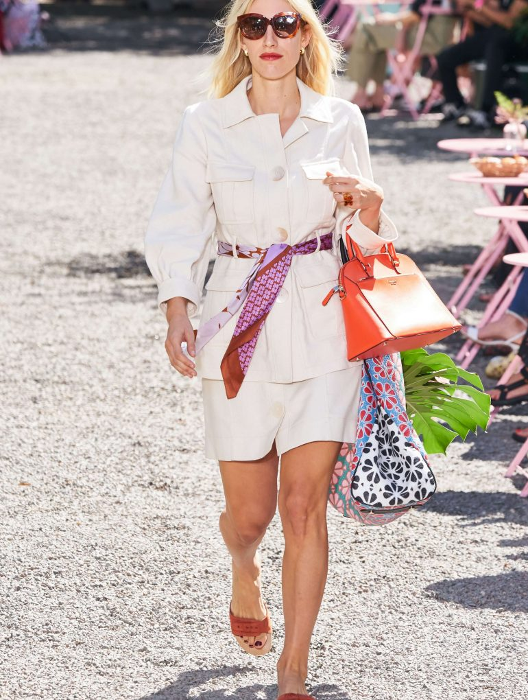 Kate Spade khaki safari outfit.