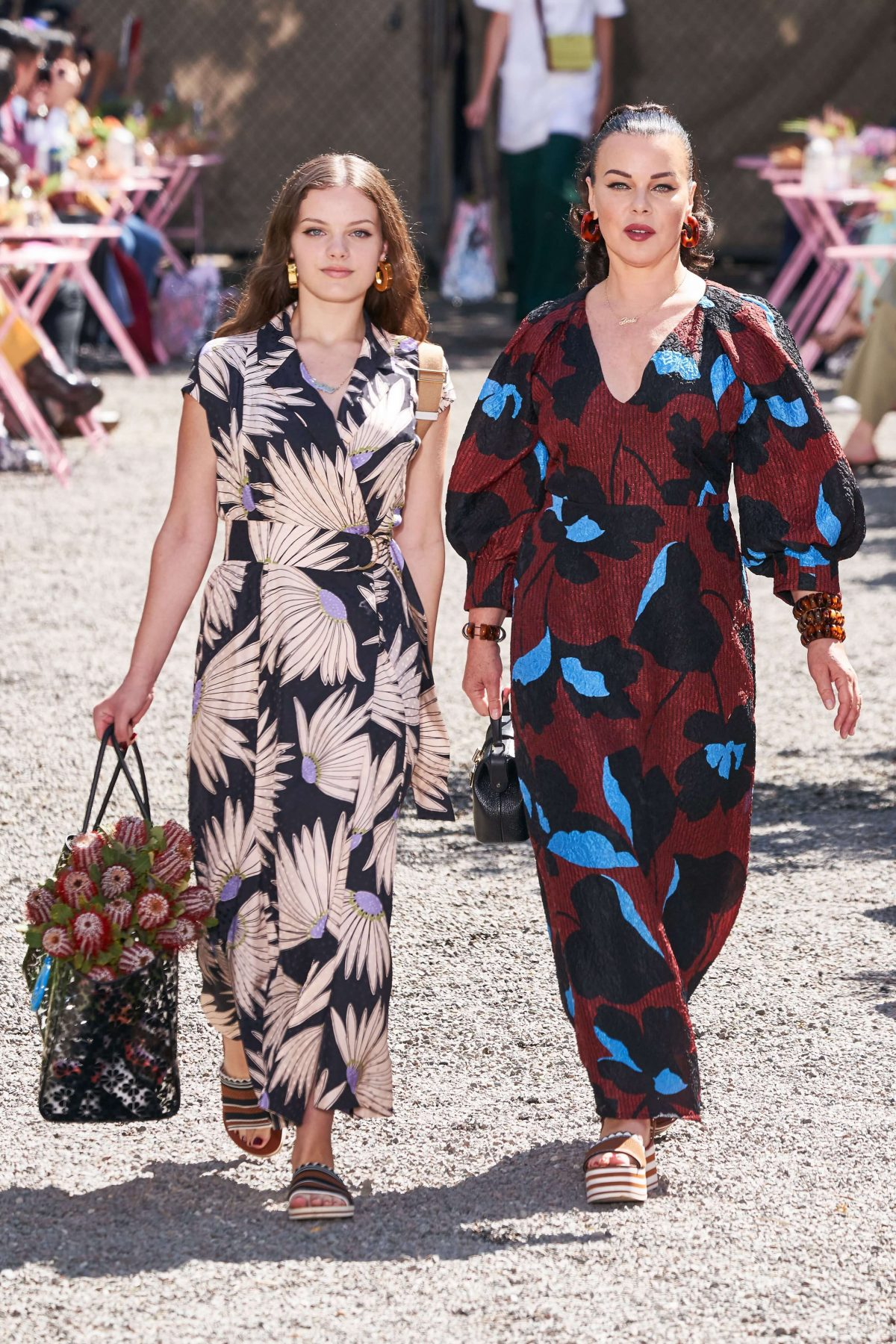 Kate Spade mother-daughter floral print dresses.