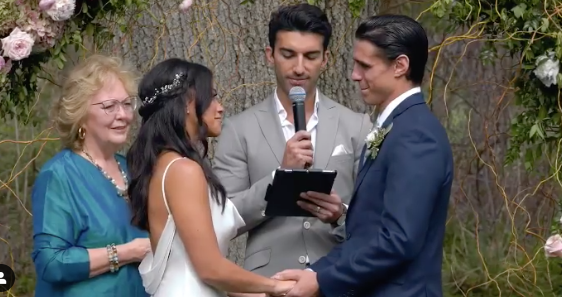 Actress Gina Rodriguez's wedding ceremony