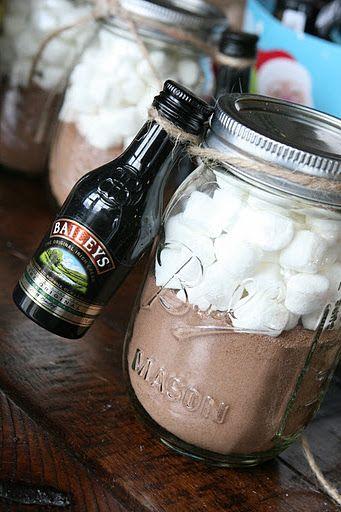 Adult hot cocoa wedding favor