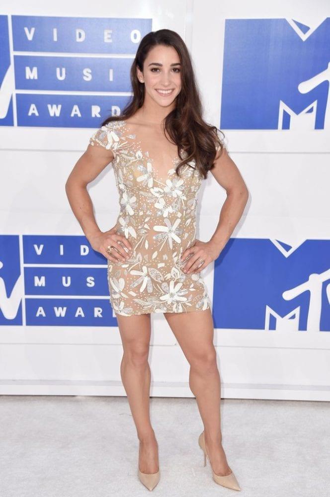 Aly Raisman wearing Hayley Paige Red Carpet