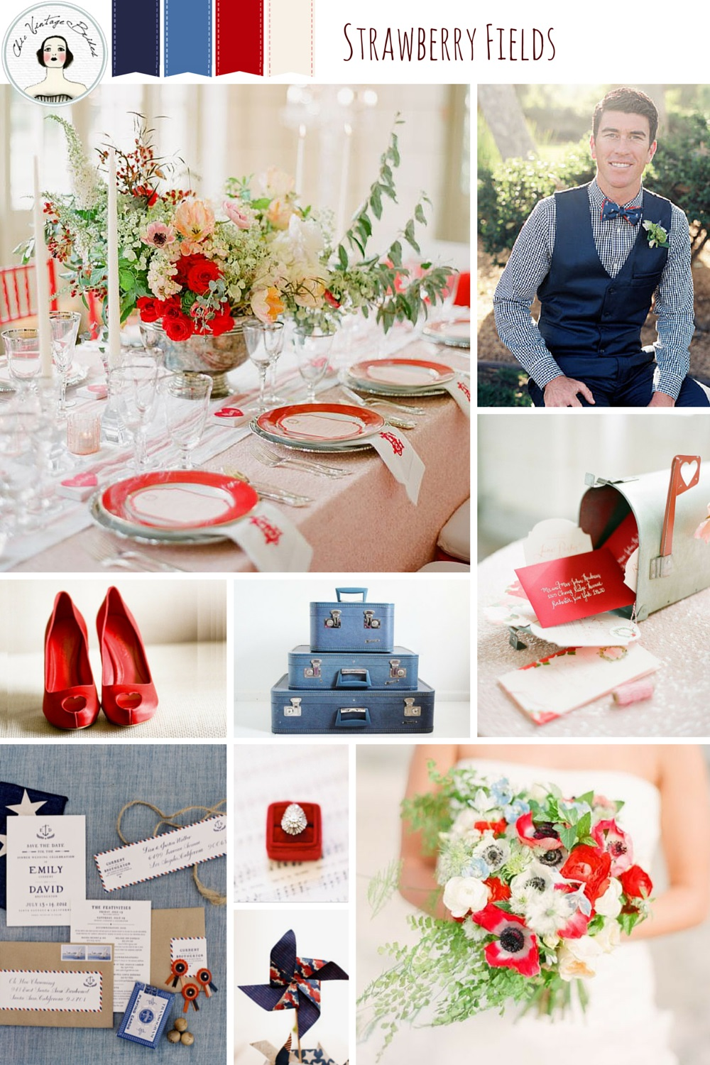 Americana Color Wedding