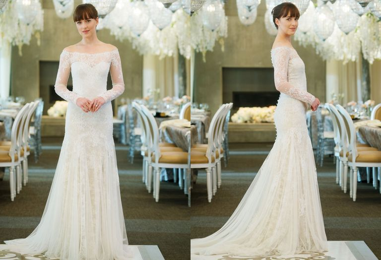 Anastasia's wedding dress from Fifty Shades Freed