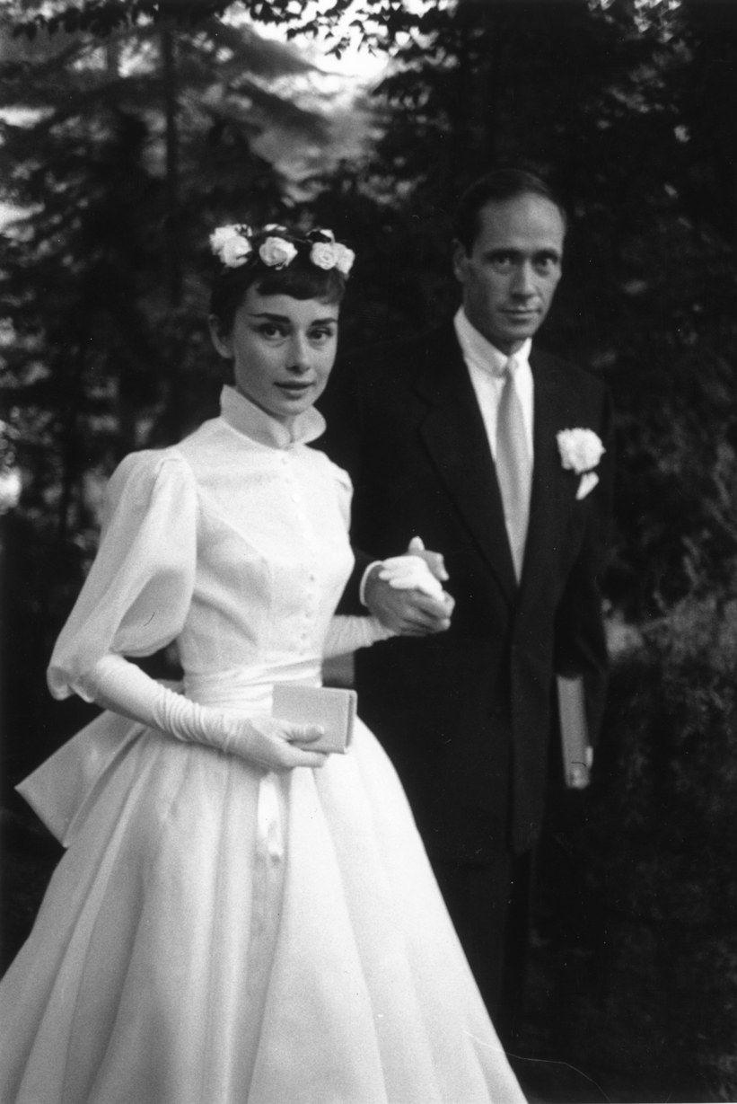 Audrey Hepburn's 1954 wedding dress