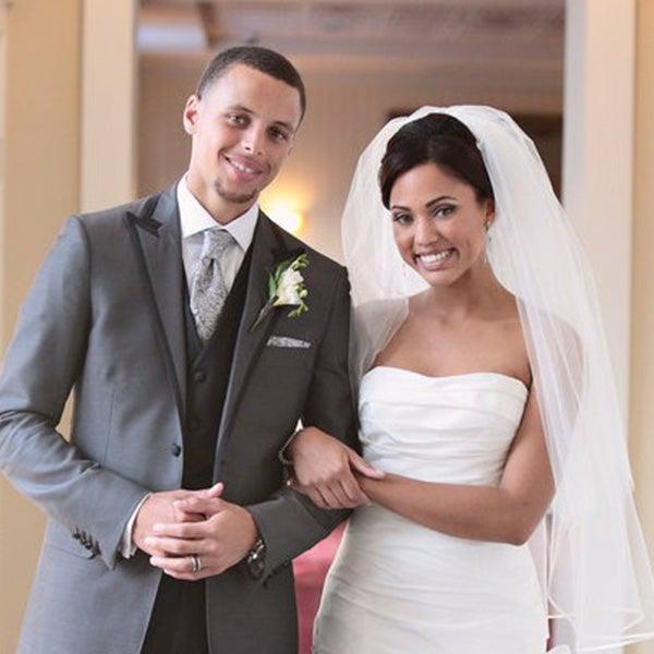 Ayesha Curry's Amsale wedding dress