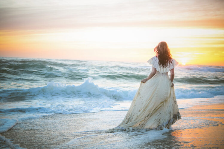 Beach trash the dress session