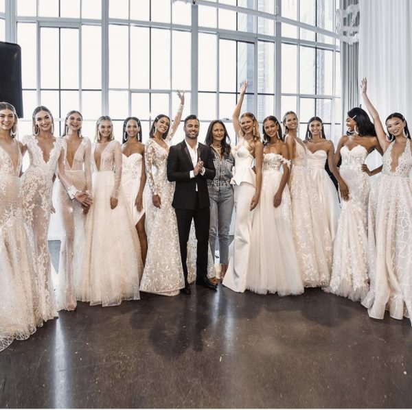 Berta with her model brides