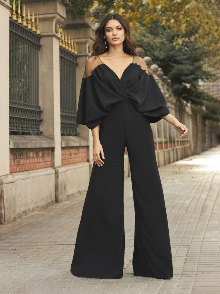Black jumpsuit from the Pronovias cocktail collection