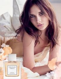 Bottle of Vera Wang's fragrance Embrace