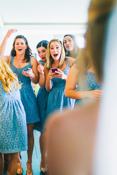 Bridal Reveal To The Bridesmaids