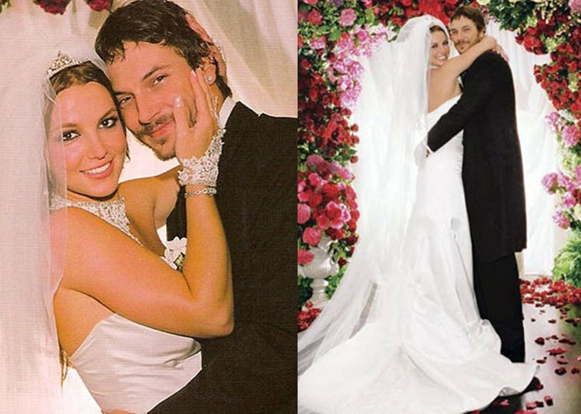 Britney Spears' wedding dress by Monique Lhuillier