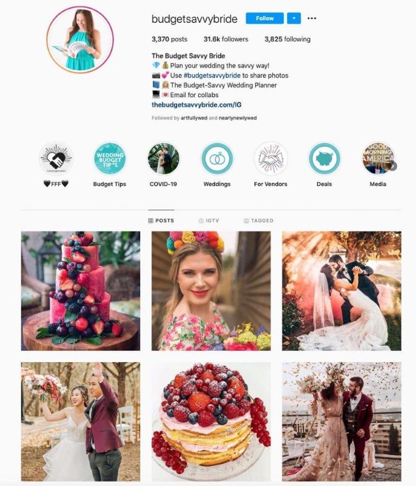 Budget Savvy Brides' Instagram