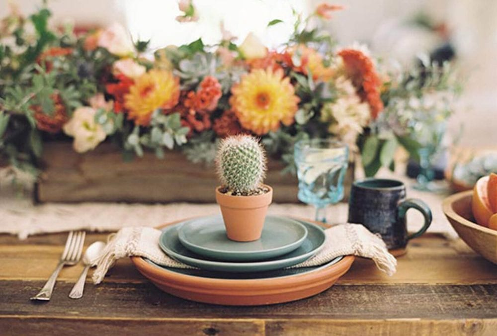 Cactus wedding favor