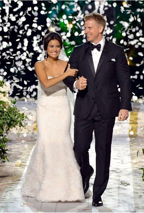 Catherine Giudici's wedding dress by Monique Lhuillier