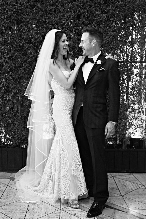 Christina McLarty in her wedding dress by Naeem Khan
