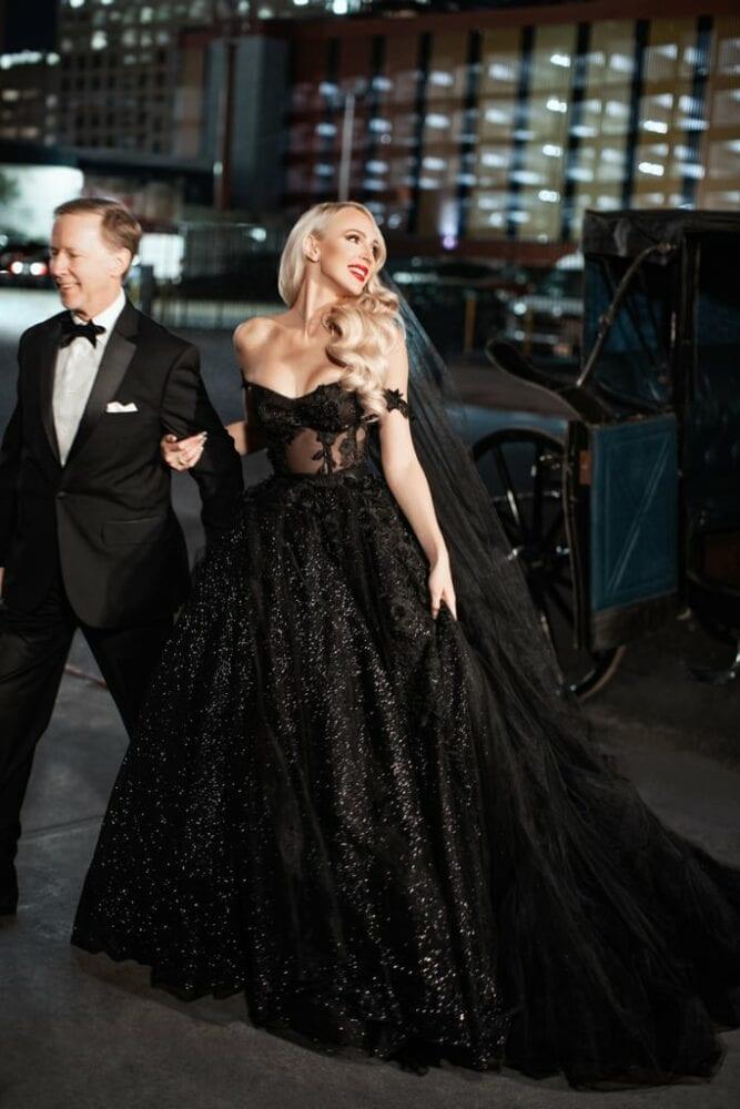 Christine Black's Galia Lahav wedding dress
