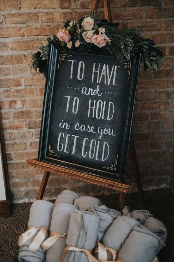 Cozy blanket wedding favors