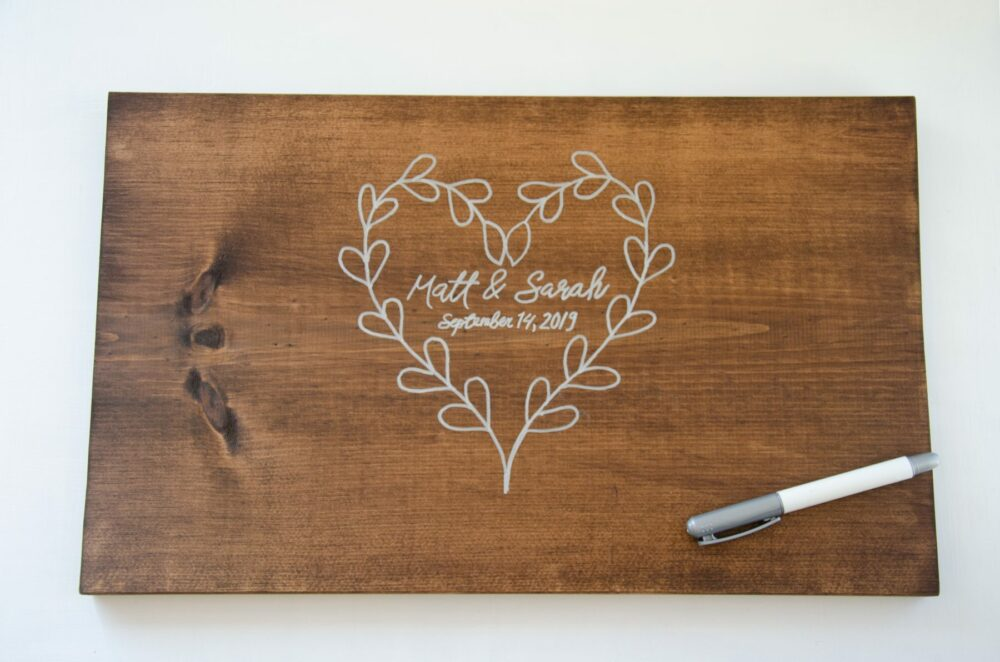 DIY Alternative Guest Book - use marker to make permanent