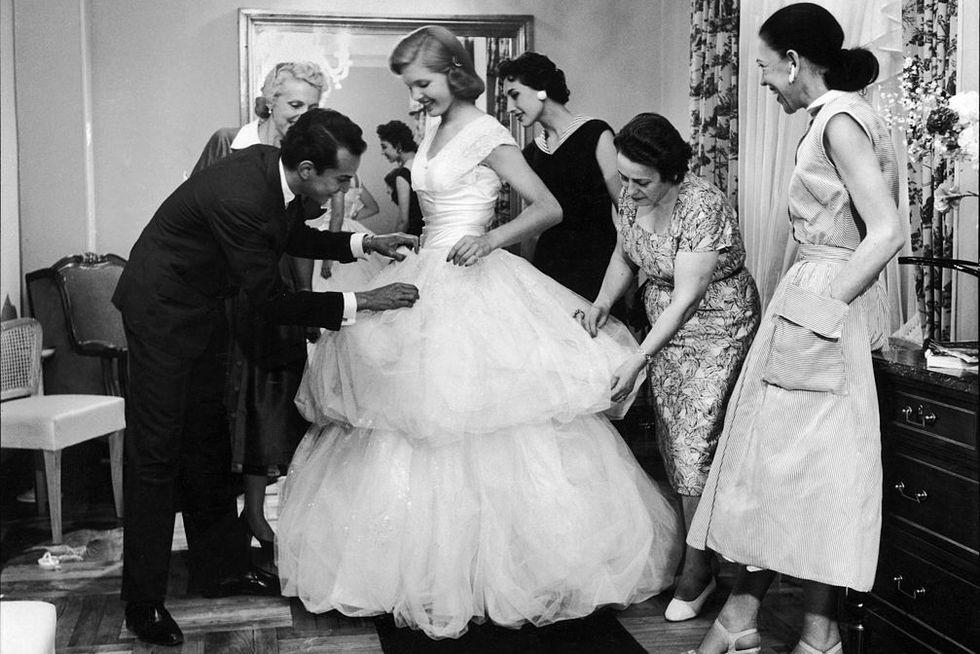 Debutante gown design by Oscar de la Renta