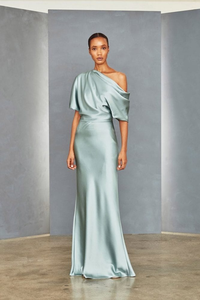 Draped bodice gown from Amsale's evening collection