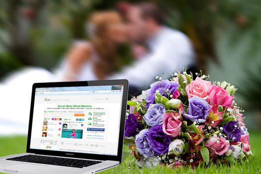 flower bouquet next to laptop