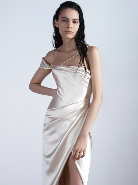 Elise satin dress from Galia Lahav