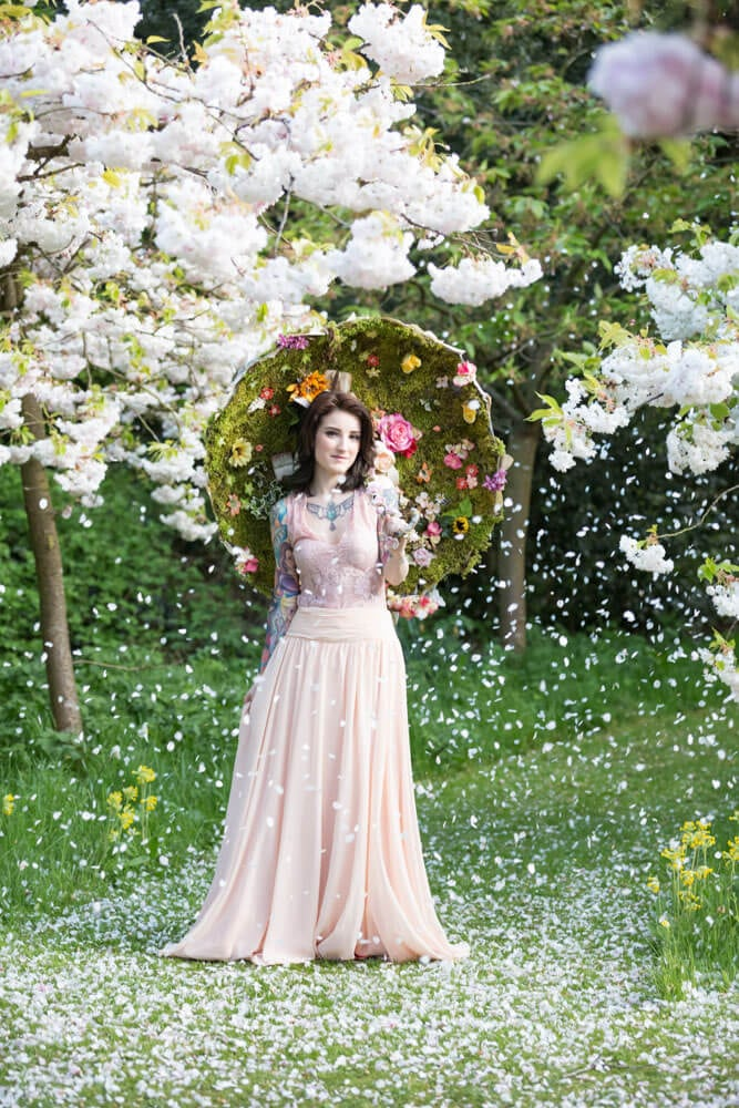 fairy tale engagement shoot fairy themed