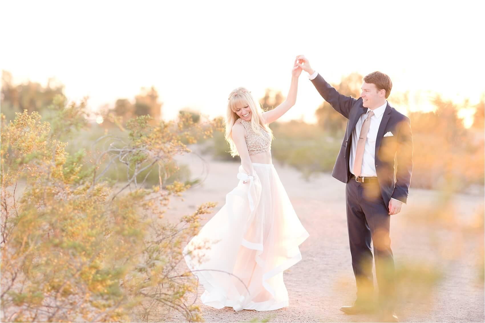 desert fairy tale engagement shoot