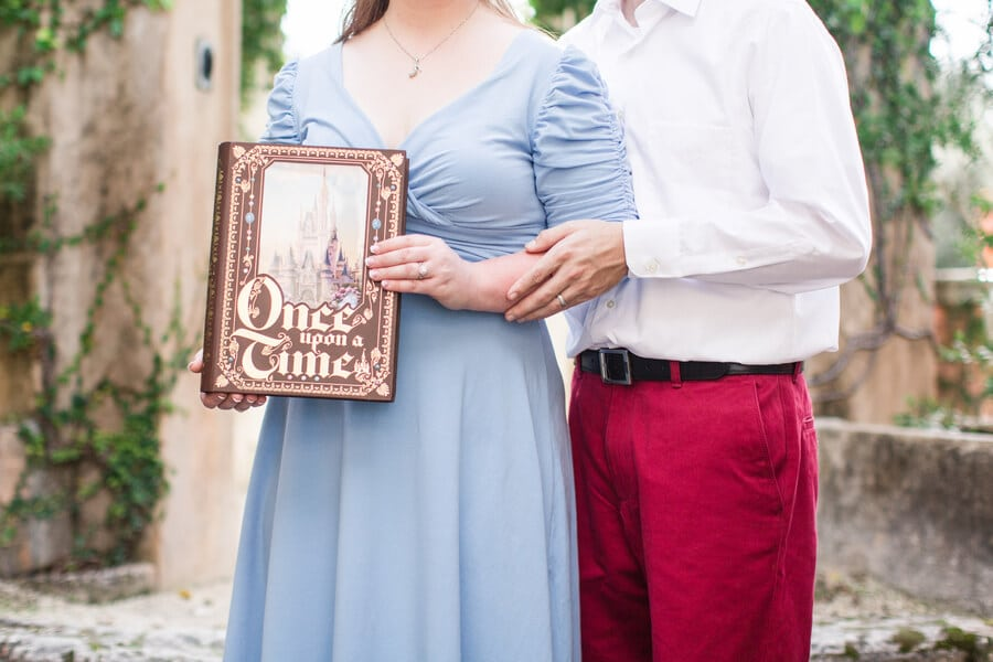 once upon a time fairy tale engagement shoot