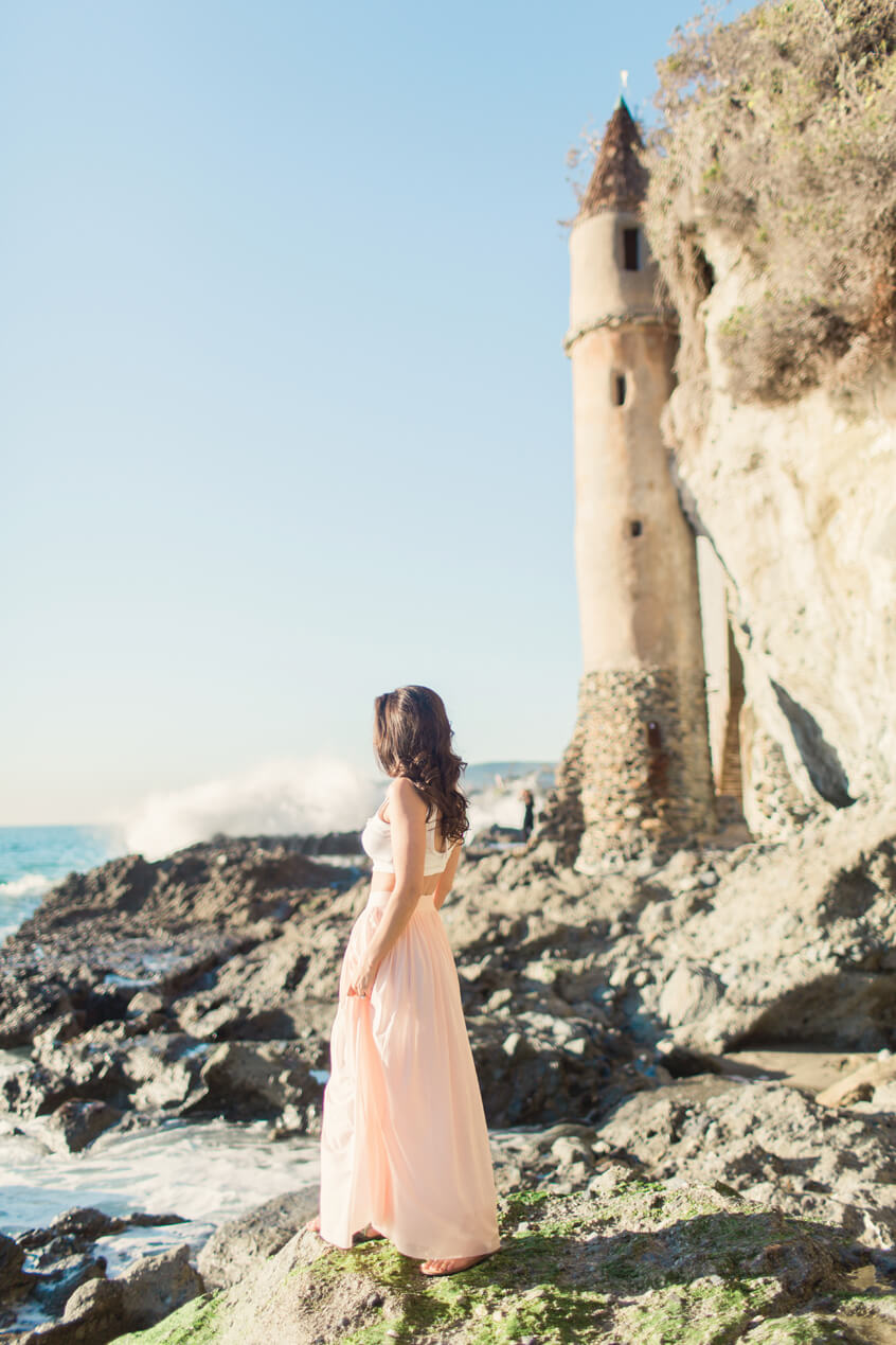 Fairy Tale Beach and Lighthouse engagement shoot