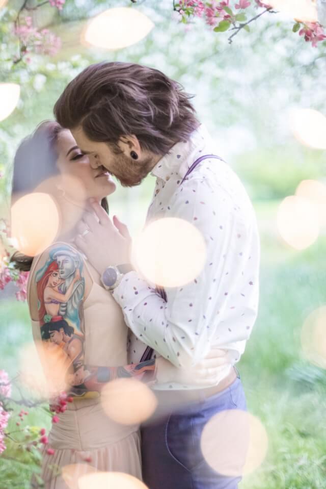 punk style fairy tale engagement shoot