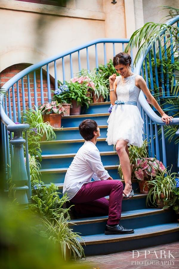 fairy tale engagement shoot cinderella inspired
