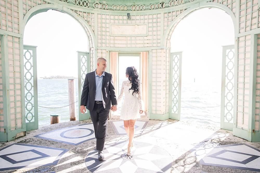 vizcaya museum fairy tale engagement shoot