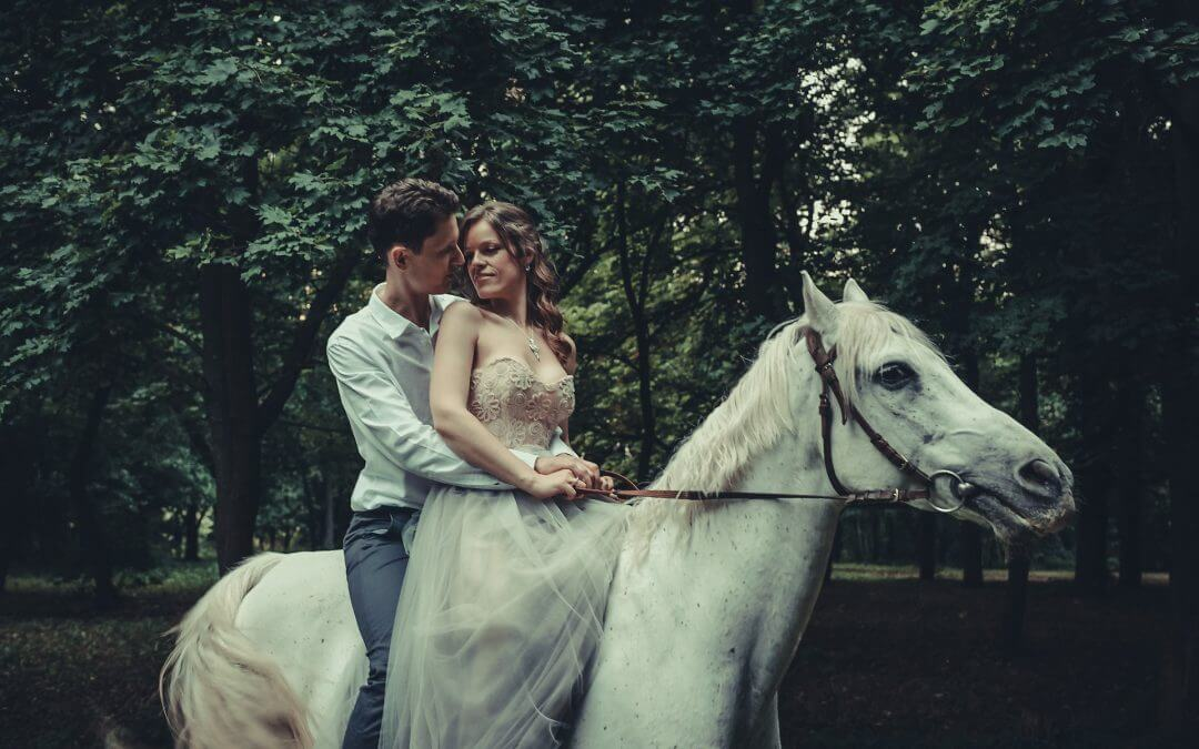 Fairy Tale engagement shoot on a horse