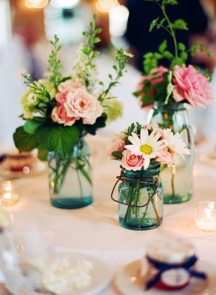 mason jar wedding centerpiece vases