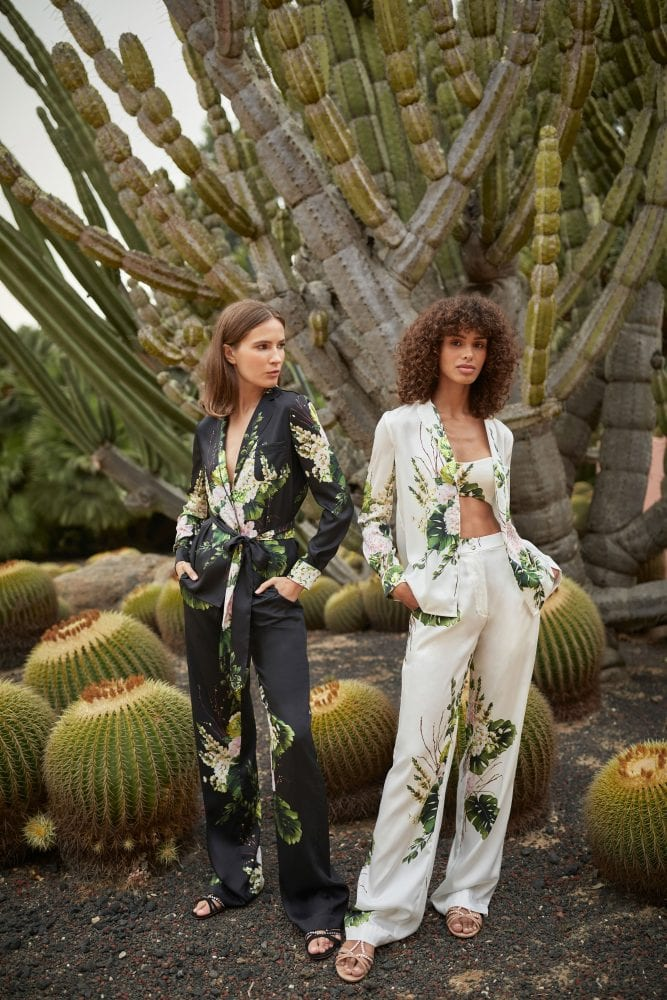 Floral robe outfits by Monique Lhuillier
