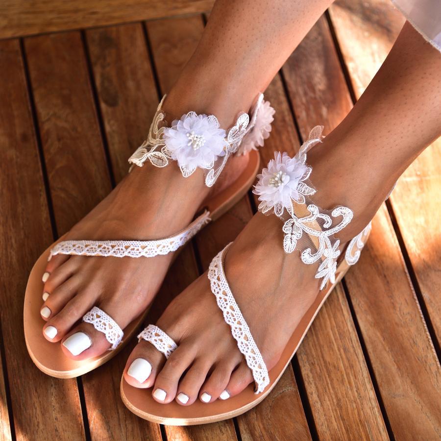 Floral strap sandals