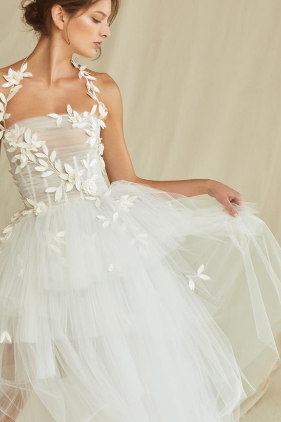 Floral tulle gown from Oscar de la Renta