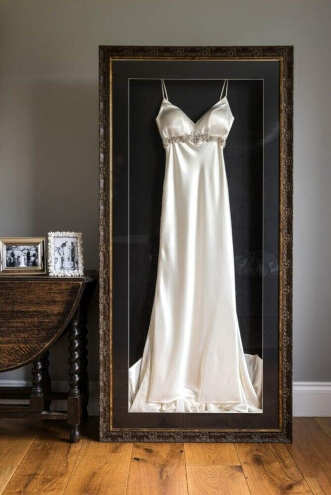 Framed wedding gown