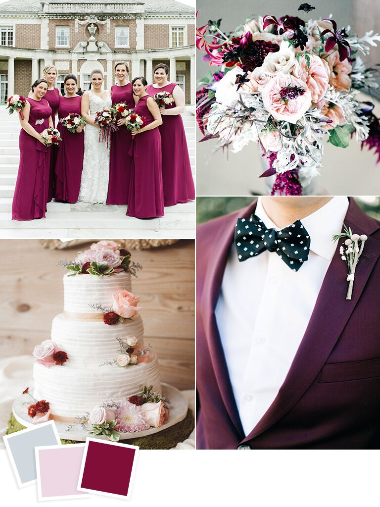 Frost Blush & Boysenberry Wedding