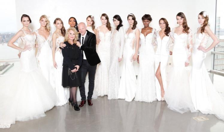 Galia Lahav with her bridal models