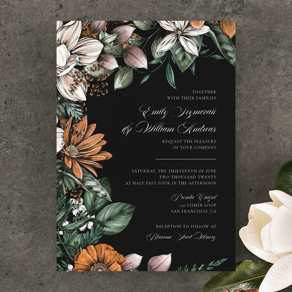 Garden bloom wedding invitation