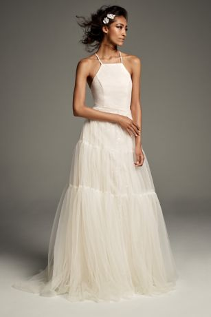 Halter tulle gown from White by Vera Wang collection