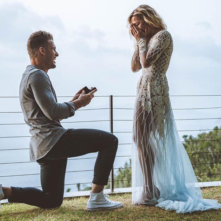 Conrad Louis proposing to Hayley Paige