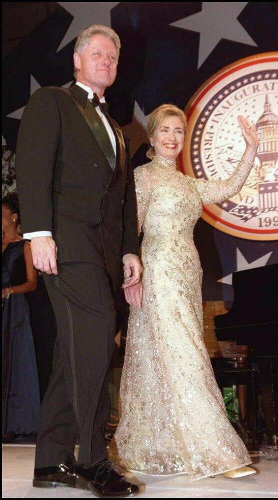 Hillary Clinton at an inaugural ball in 1997