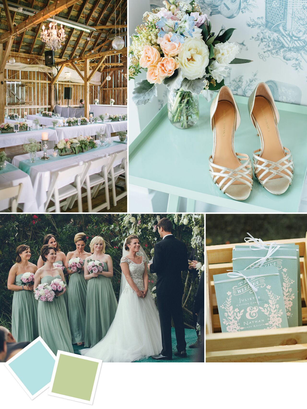 Ice Blue & Pistachio Wedding