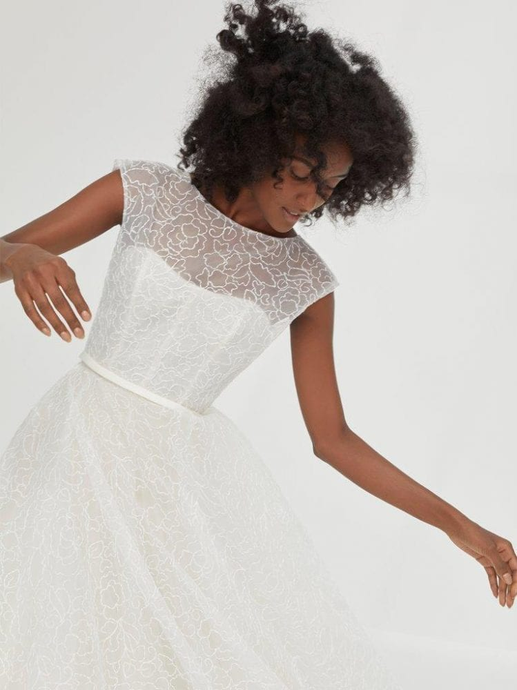 Illusion neckline ballgown from Amsale's Fall 2021 collection